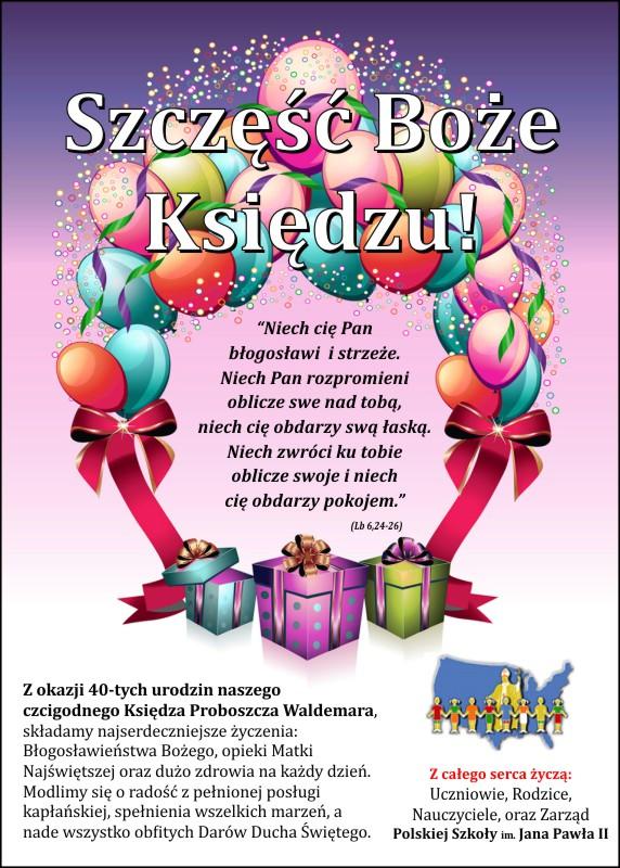 życzenia Urodzinowe Polska Szkoła